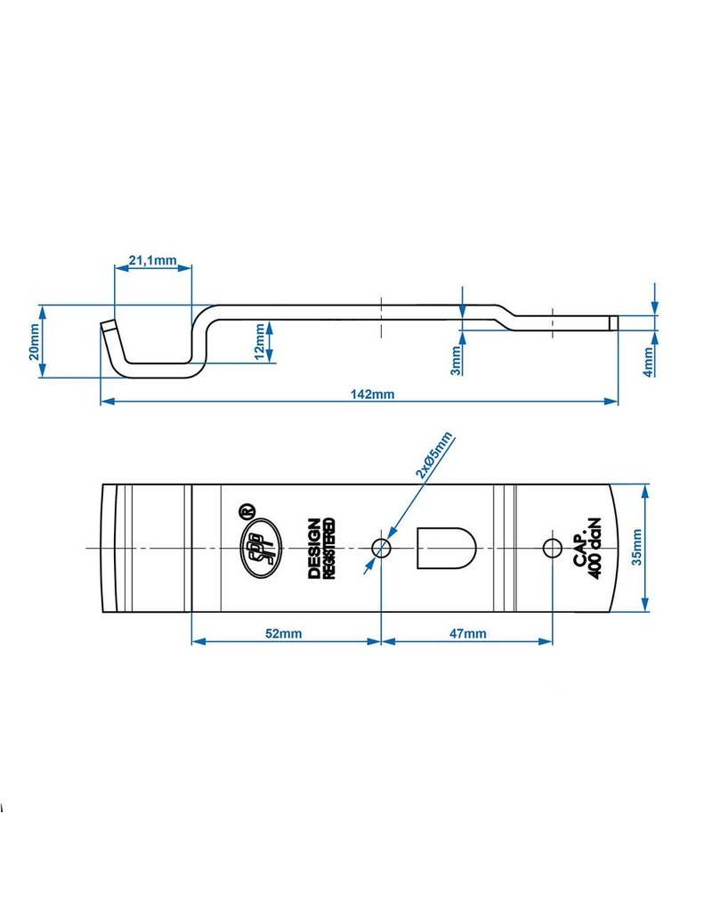 Tegenstuk voor spansluiting SPP Z-02A
