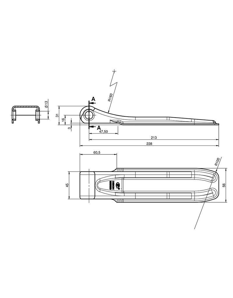 Klepscharnier SPP ZW-01.220A