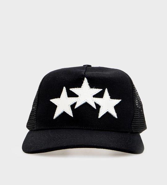 Leather Star Trucker Hat