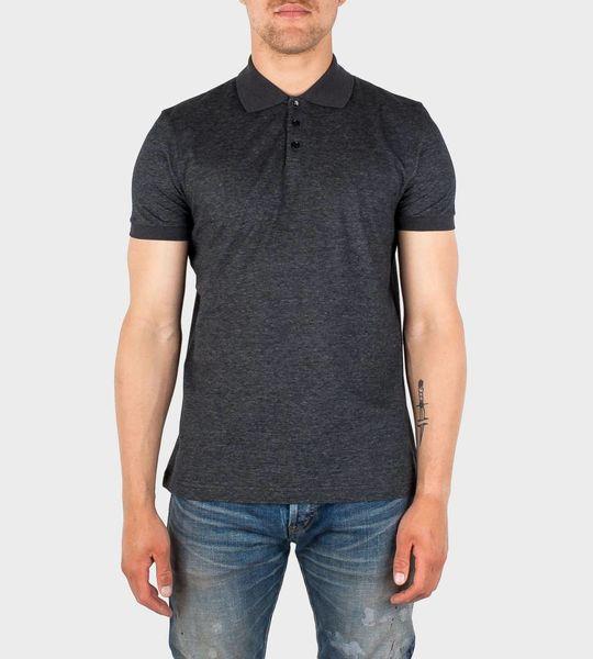 Short Sleeve Polo Shirt Grey