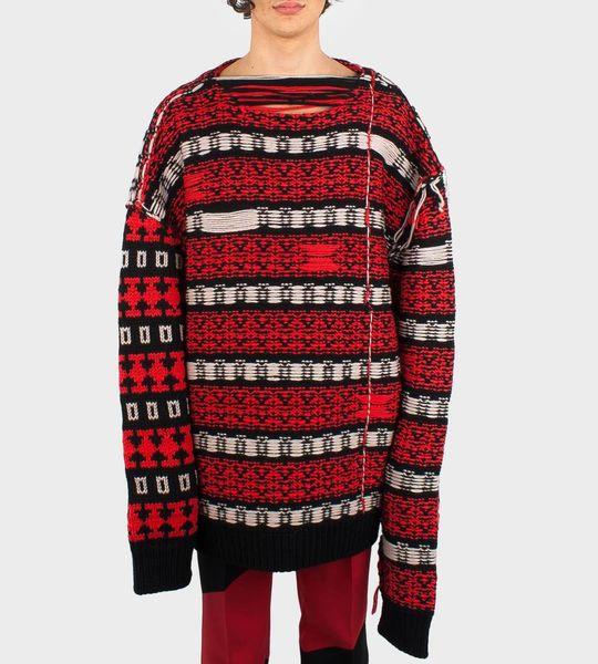 Striped Color-Block Sweater