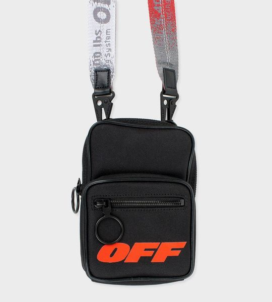 OW x FOUR cross-body bag Black/Red