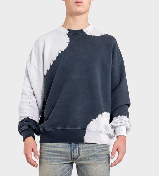 Shotgun Bleached Oversized Crewneck Sweater