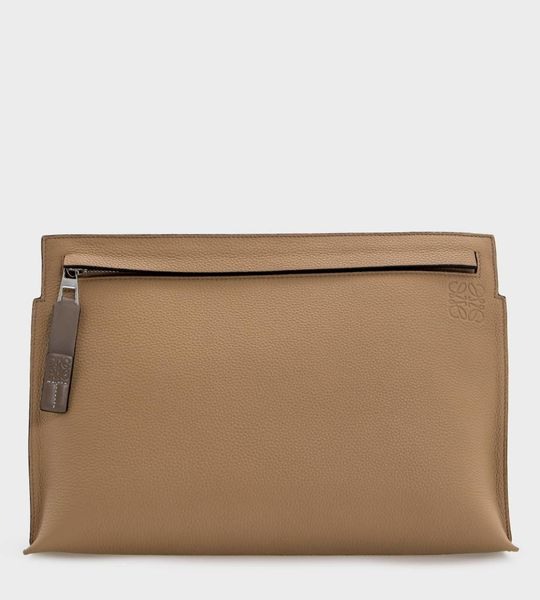 LOEWE T Pouch Brown