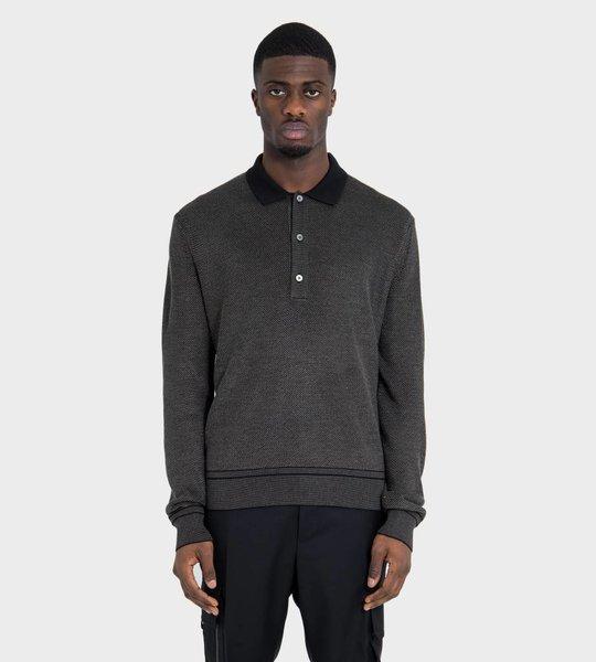 Merino Polo Ribbed Polo Shirt