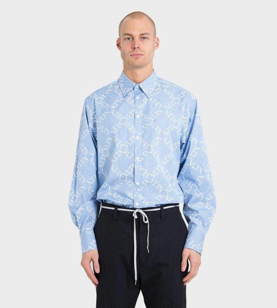 Long Sleeve Shirt With VLTN Grid Print