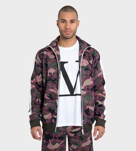 Camouflage Satin Track Jacket