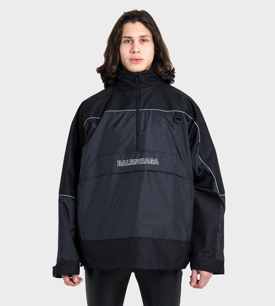 80's Crinkle Windbreaker Jacket