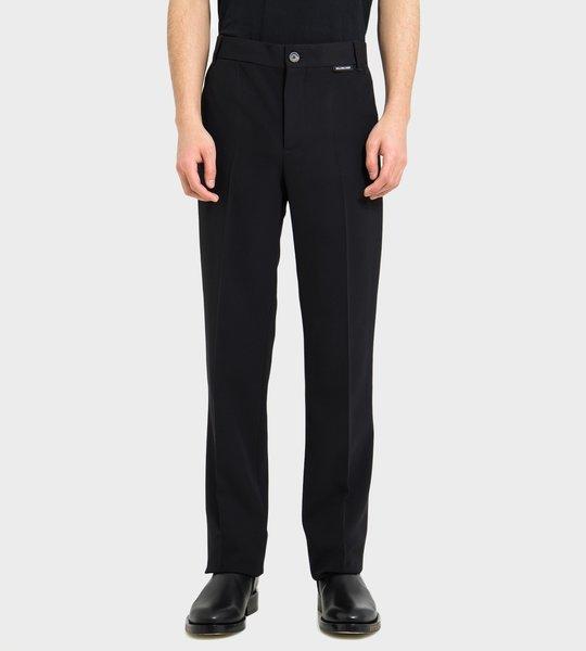 Fluid Twill Slim-Fit Trousers