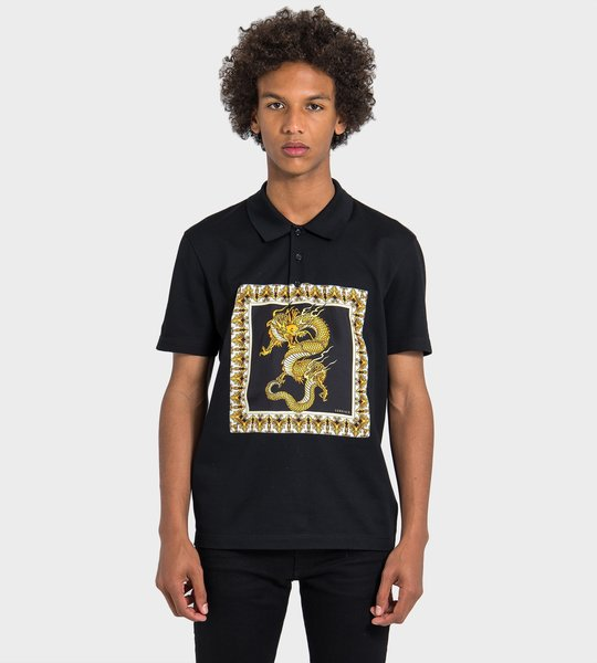 Dragon Print Polo Shirt