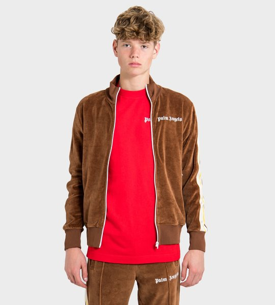 Chenille Track Jacket Brown