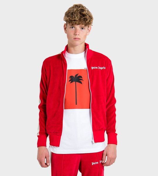 Chenille Track Jacket Red