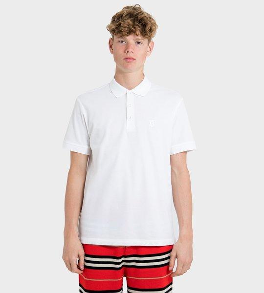 Check Placket Cotton Polo Shirt