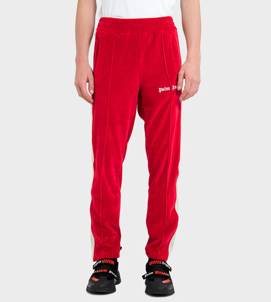 Chenille Track Pants Red