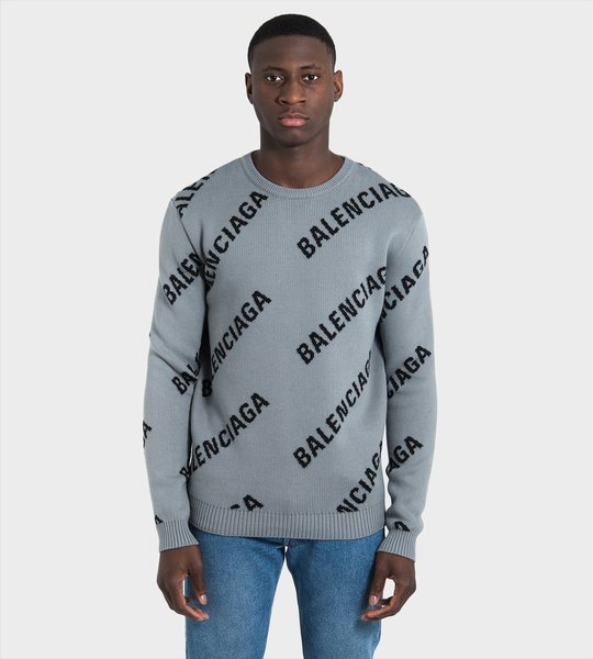 All-Over logo print Sweater