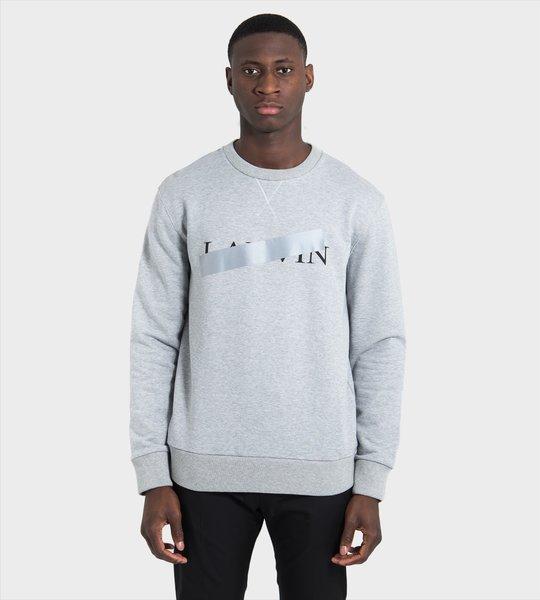 Taped Logo Sweater