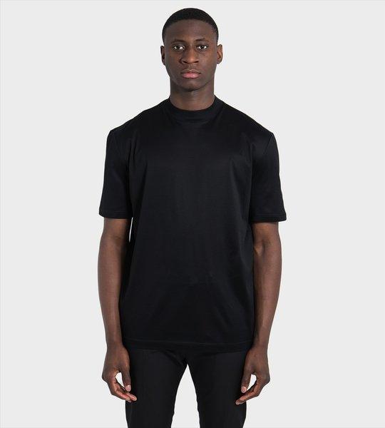 Mock Neck Reversed Logo T-Shirt