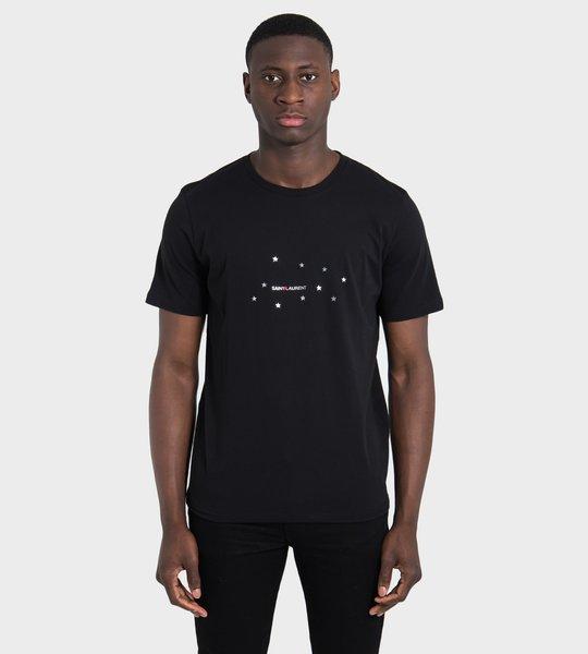 Star Motif Logo Print T-Shirt