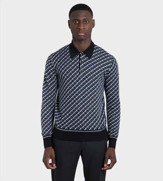 Pattern Polo Shirt