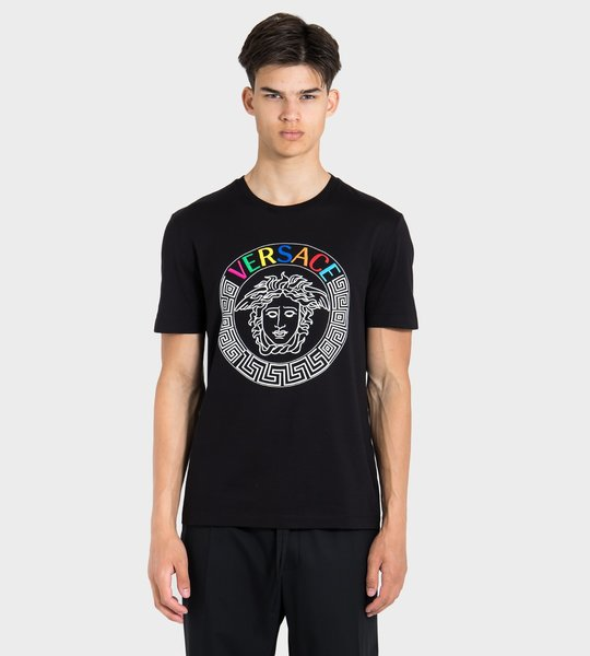 Rainbow Embroidered T-Shirt