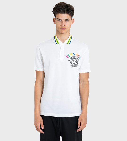 Rainbow Embroidered Polo