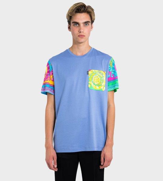 Baroque Print Patch T-Shirt