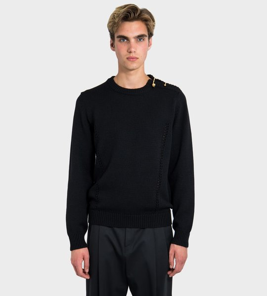 Gold Pin Detail Sweater