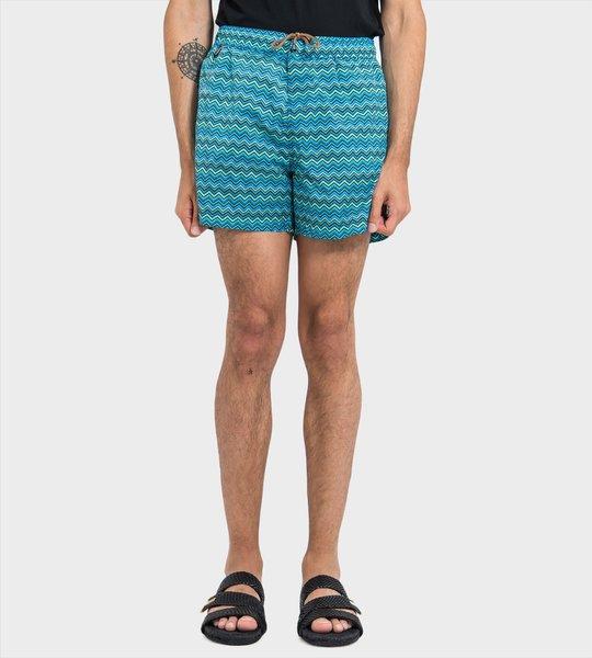 Zig-Zag Swim Shorts