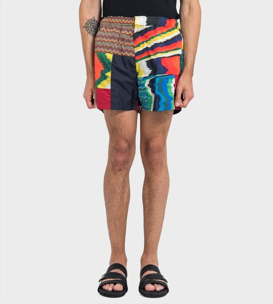 Patchwork Swim Shorts