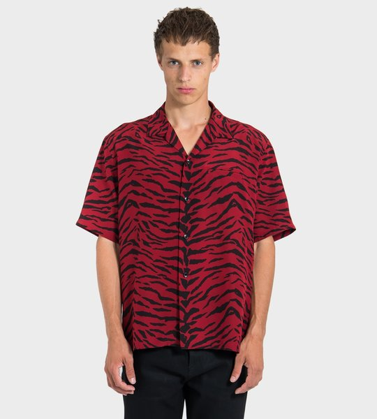 Silk Animal Print Shirt
