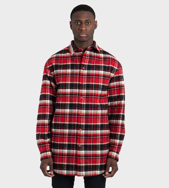 Checked Flannel Oversized Shirt
