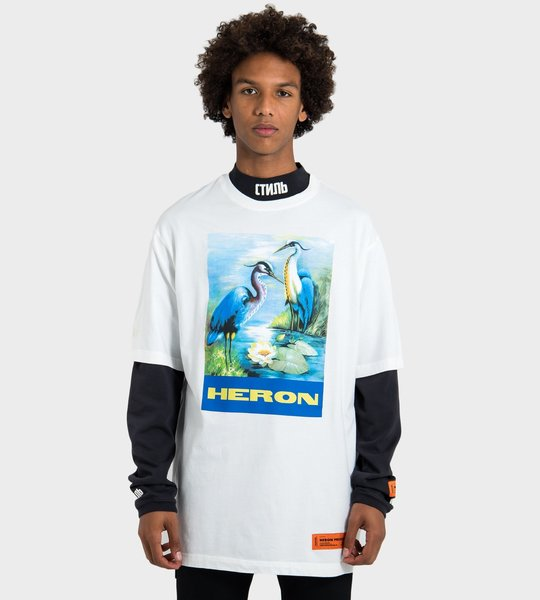 Heron Over T-Shirt