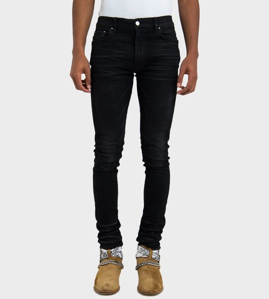 Stack Jean Rough Black