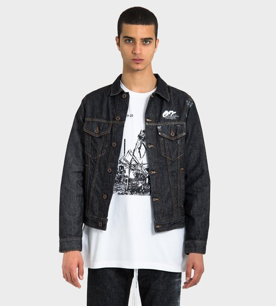 Denim Arrows Spray Jacket