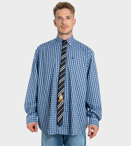 Striped-Tie Shirt