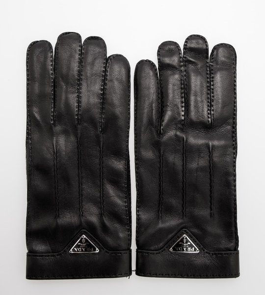 Leather Logo Gloves