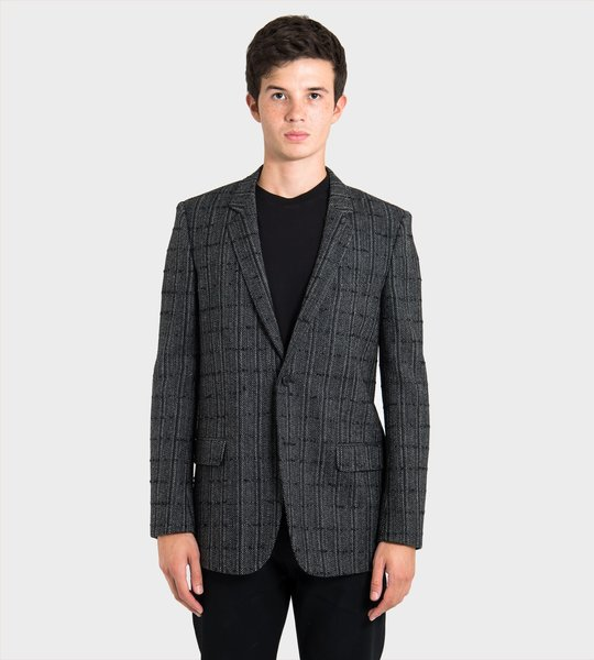 Checkered Cardigan Jacket