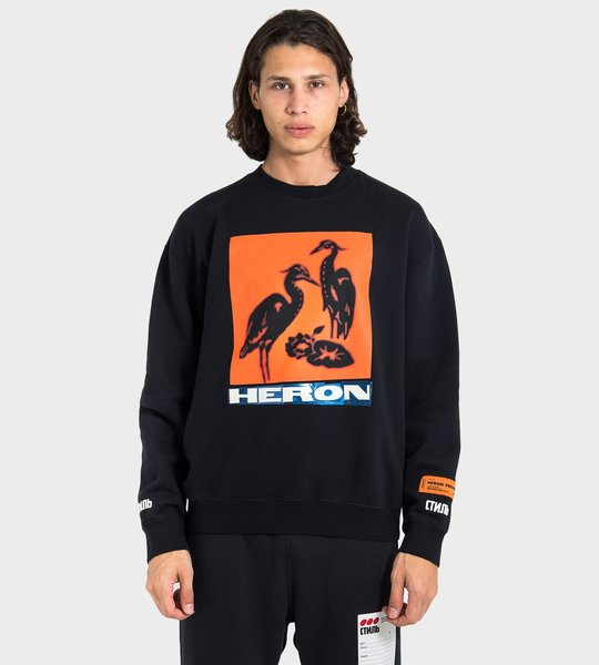Heron Graphic-Print Sweater