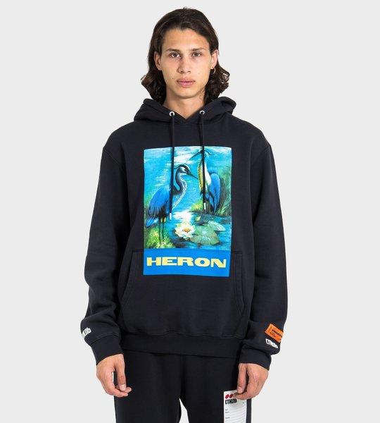 Heron Graphic-Print Hoodie