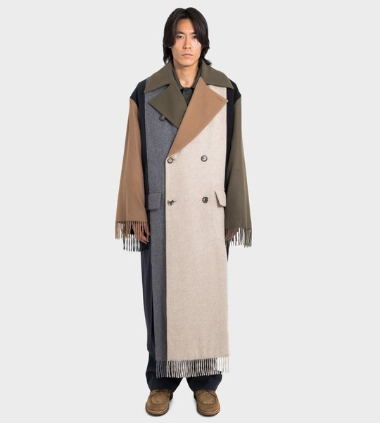 Asymmetric Scarf Coat