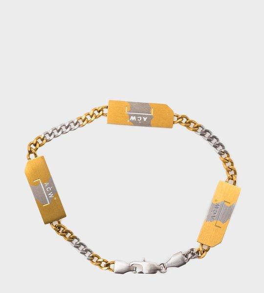 Gold & Silver Logo Bracelet