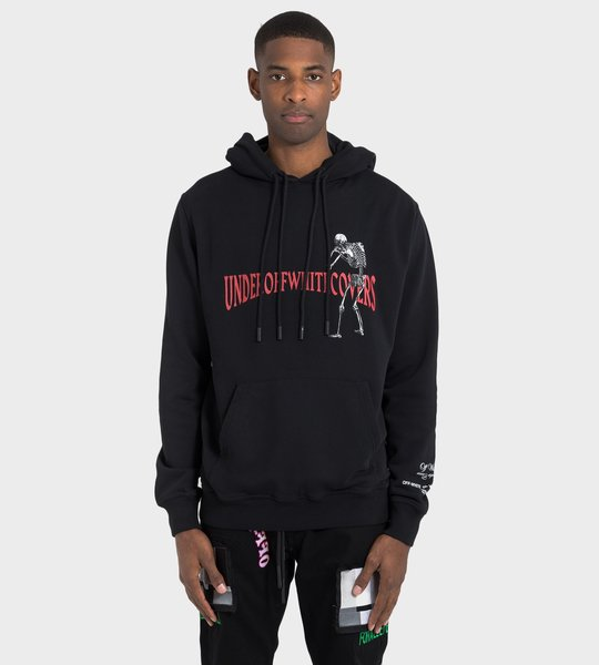 Black Skeleton Reversible Hoodie