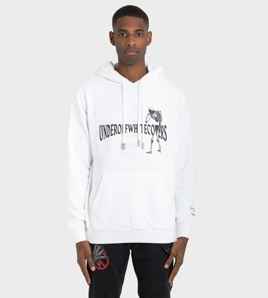 White Skeleton Reversible Hoodie