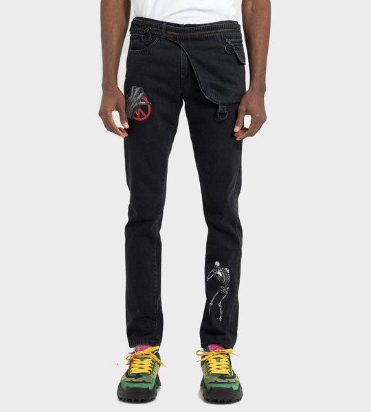 Slim 5 Pocket Denim Pants