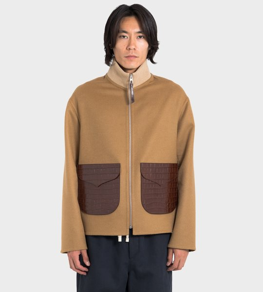 Zip Jacket Patch Pockets