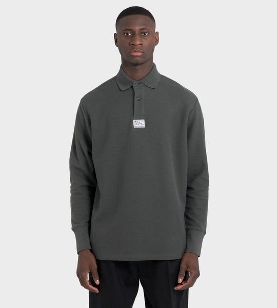 Antracite Long Sleeve Polo