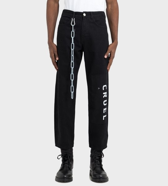 Chain Detailed Jeans