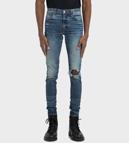 Dark Crafted Indigo  Broken Jeans
