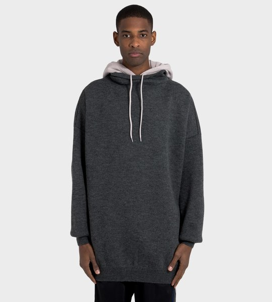 Embroidered Knitwear Hoodie