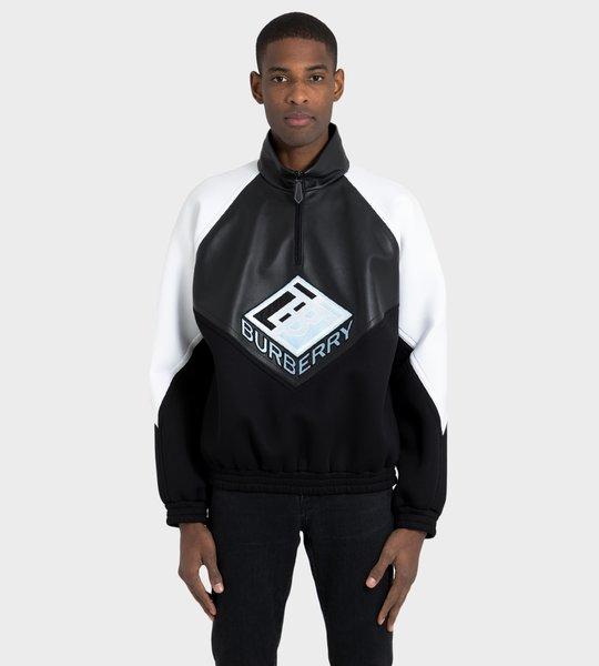 Logo Graphic Neoprene Sweater